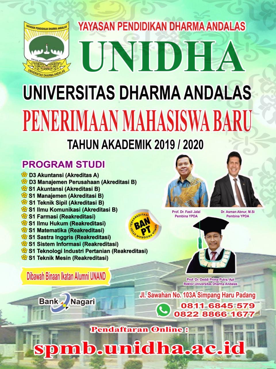 Kuliah di Kampus Favorit & Berkualitas Universitas Dharma Andalas, Padang