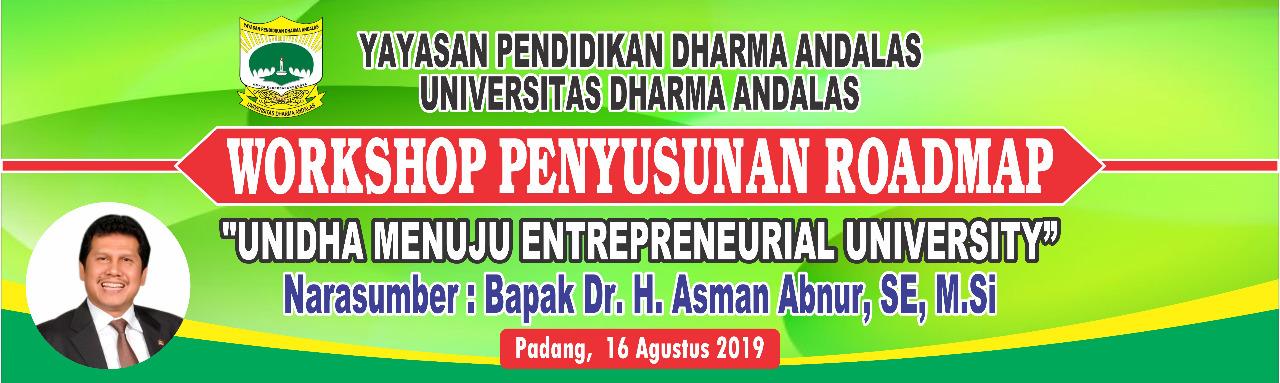 Workshop Penyusunan Roadmap Dengan Narasumber Bpk. DR.H.Asman Abnur,E,M.Si