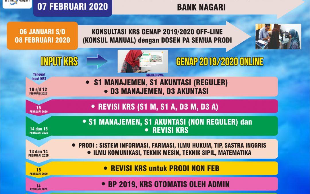 Informasi Jadwal KRS dan Pembayaran Uang Kuliah