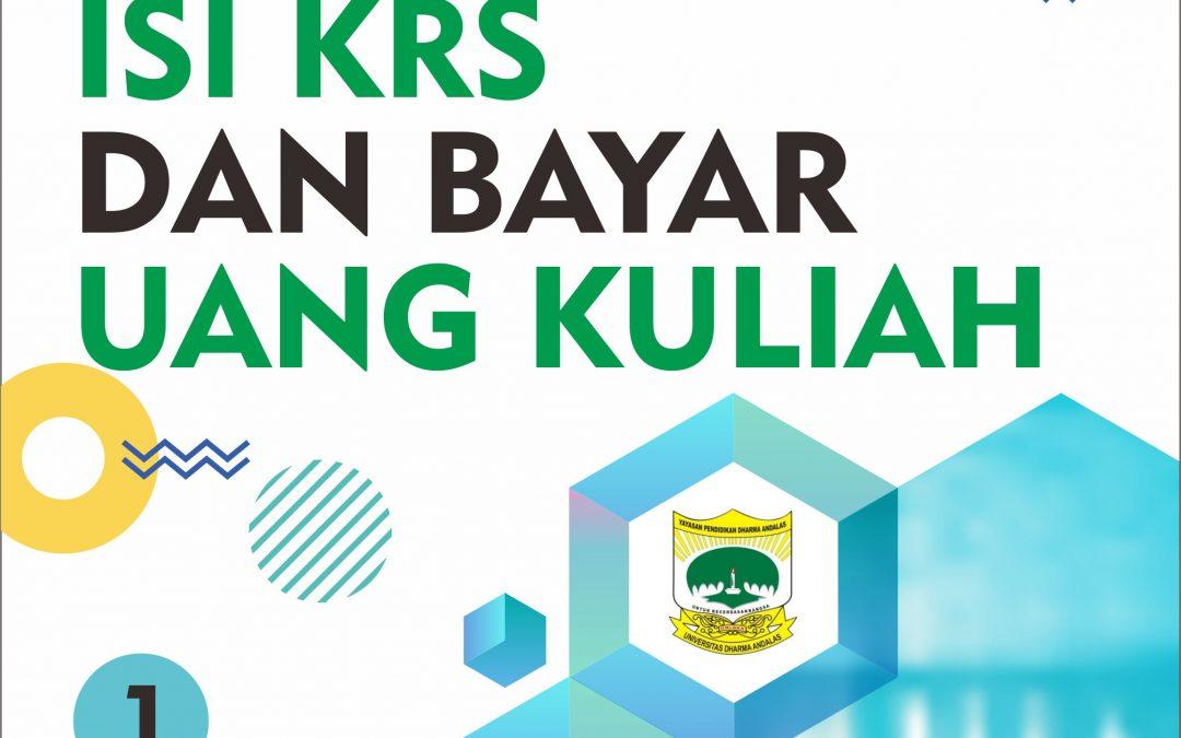 Informasi KRS Online dan Pembayaran Uang Kuliah