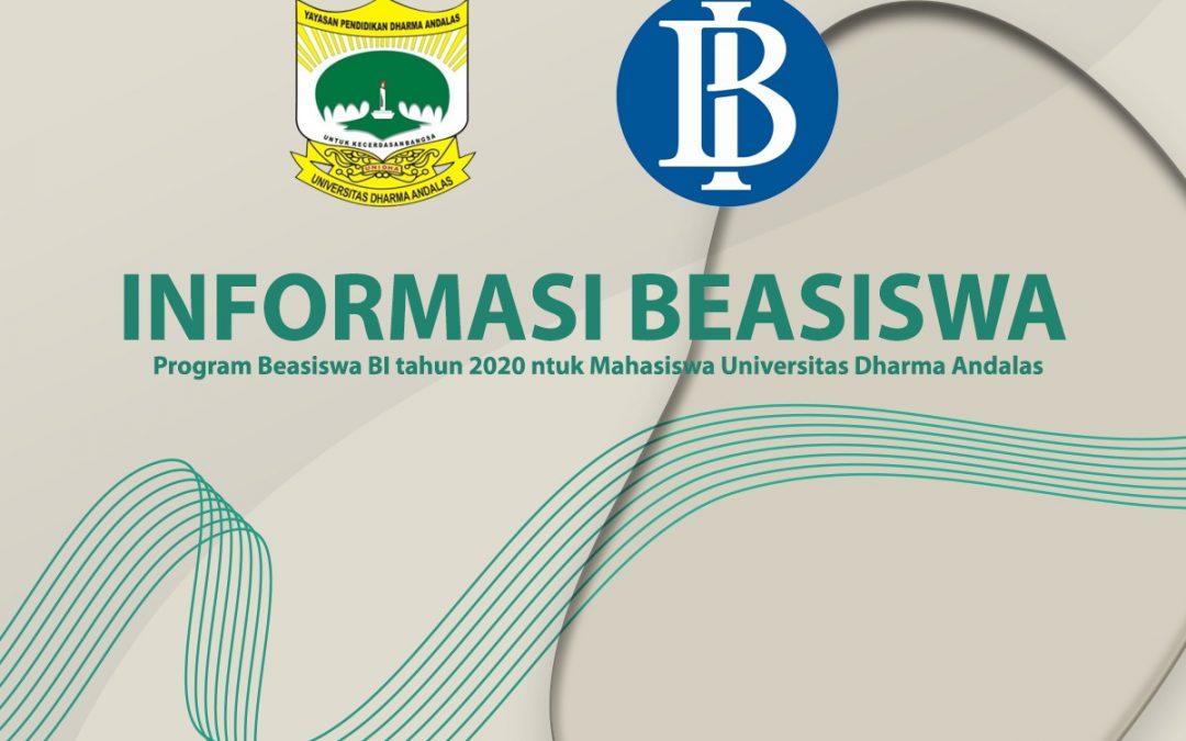 Program Beasiswa Bank Indonesia (BI) Tahun 2020