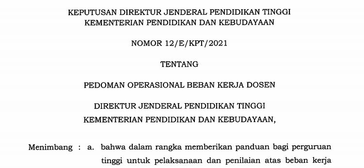 Pedoman Operasional BKD LKD Terbaru 2021