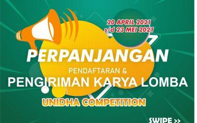 Perpanjangan Pelaksanaan Unidha Competition 2021