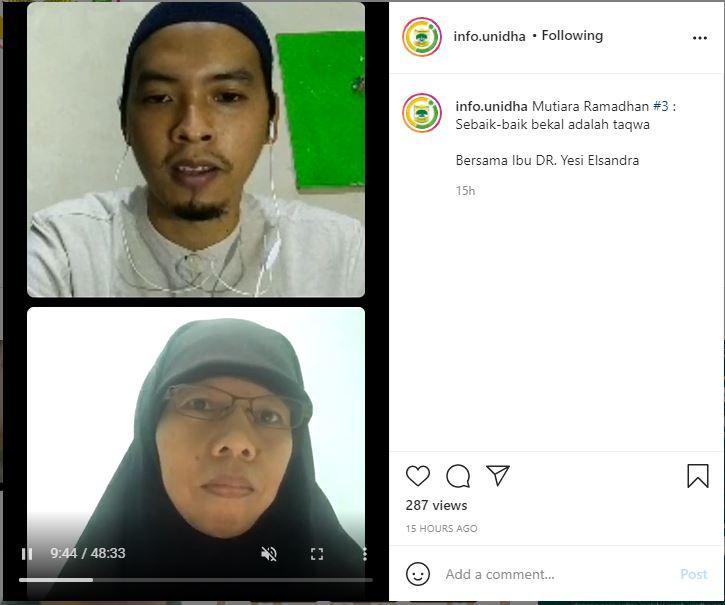Mutiara Ramadhan UNIDHA Hari-3 : Sebaik – Baik Bekal Adalah Taqwa